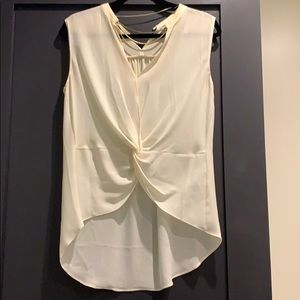 Zara top with chain neck line